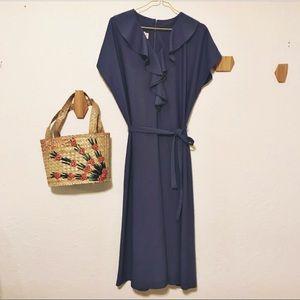 Vintage ruffle midi dress